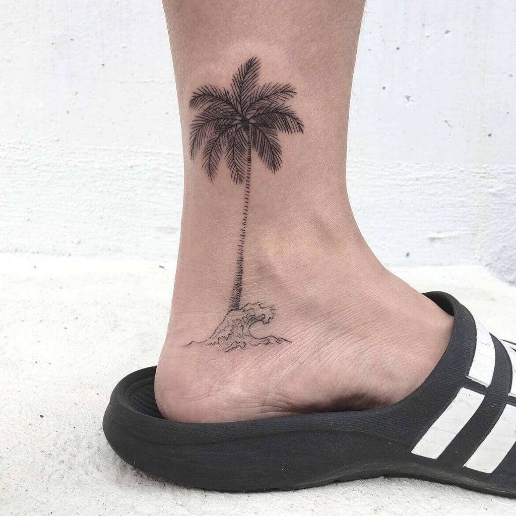 腳踝棕梠樹
